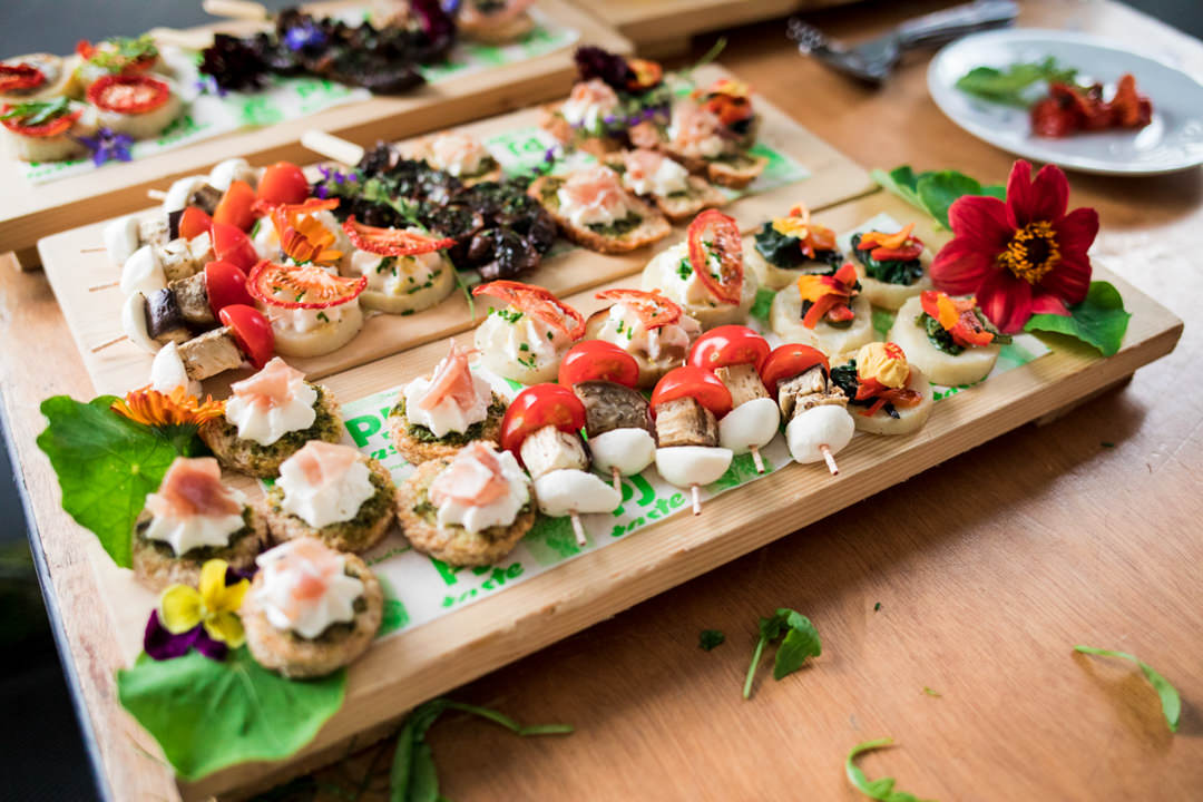 Mixed wedding canapés