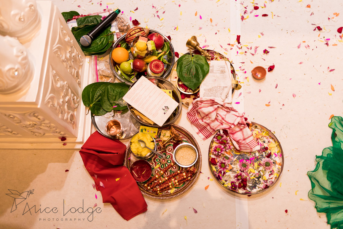 Items used for Hindu wedding ceremony