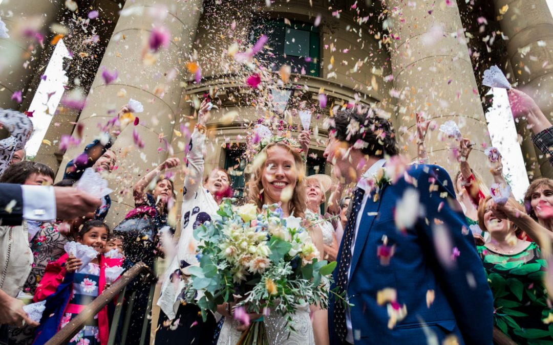 Victoria Hall Saltaire wedding photographer – Shura and Kevin