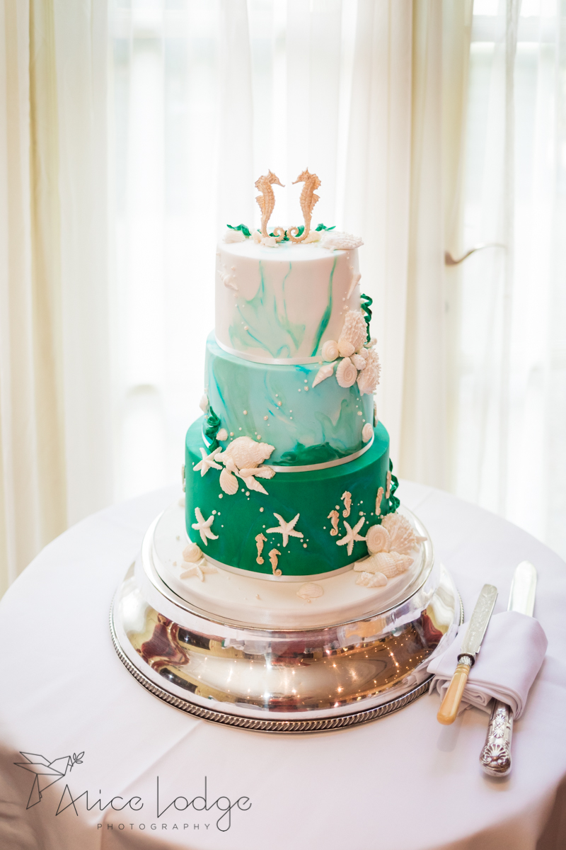 sea themed wedding cake