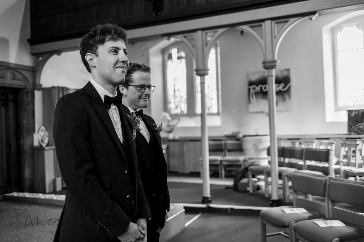 groom with tears in his eyes