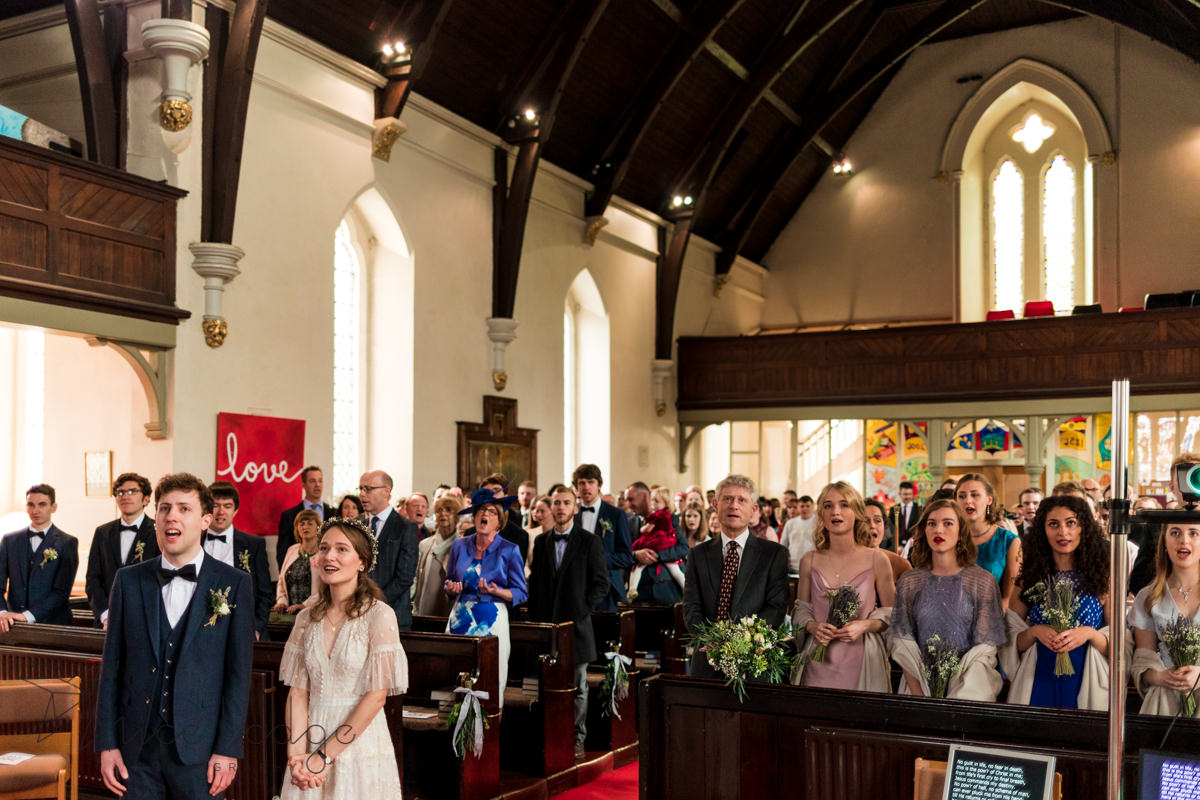 wedding ceremony in st. Thomas's church york