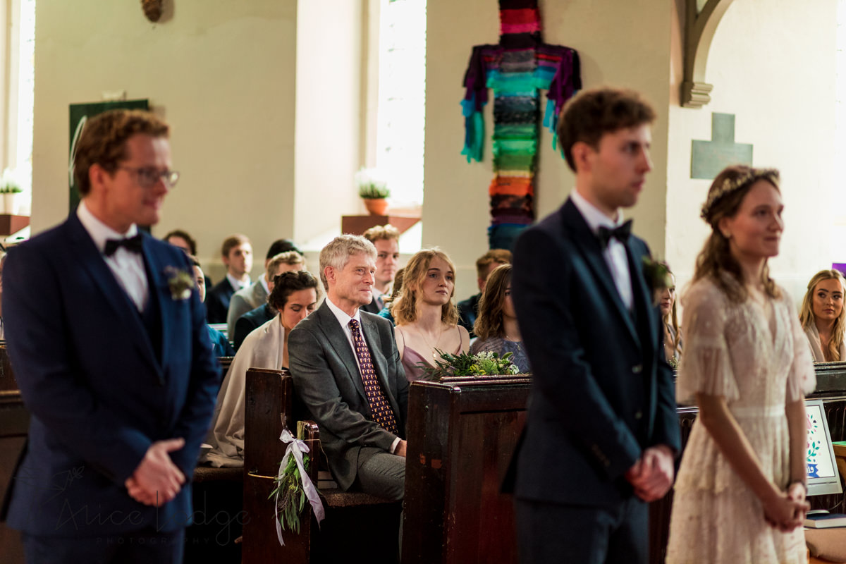 father of the bride in church