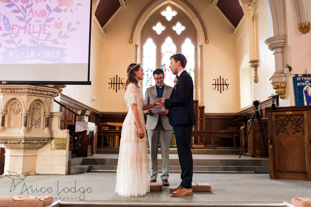 wedding ceremony st. Thomas's church York