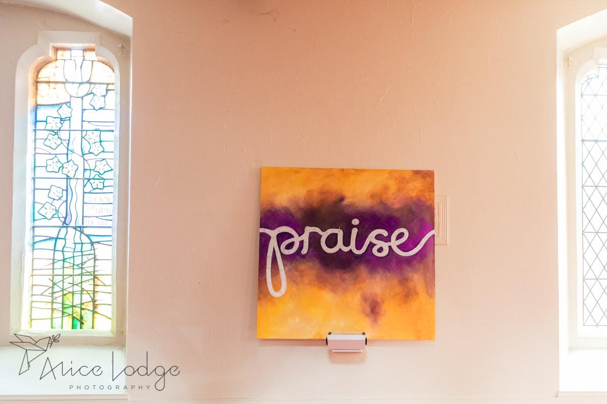 Praise wall sign