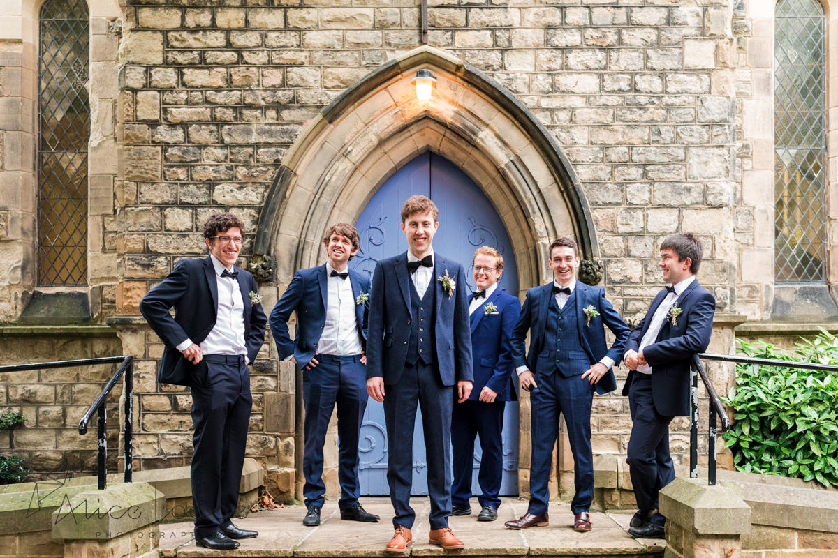 group photo of groom and groomsmen