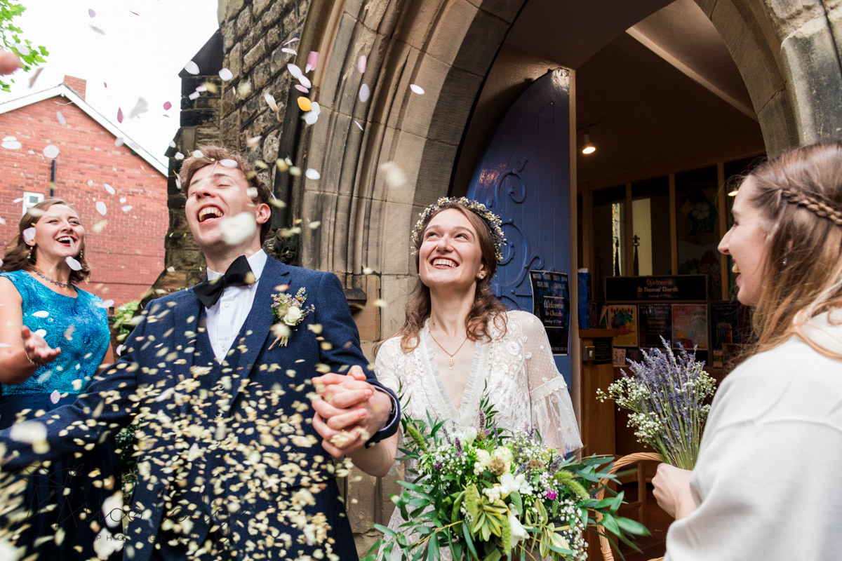 wedding confetti in York