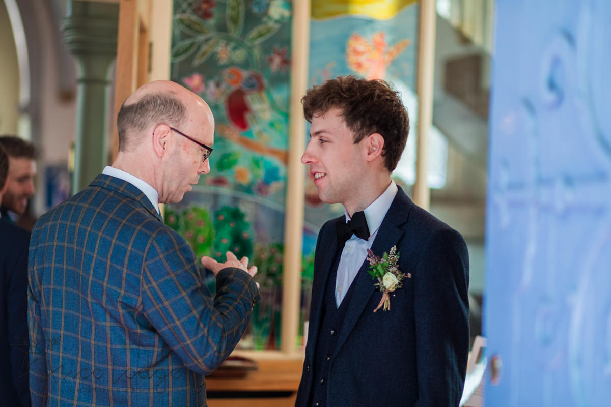 groom with father in York church