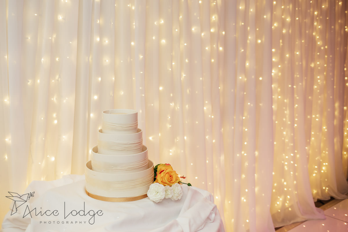 white plain wedding cake