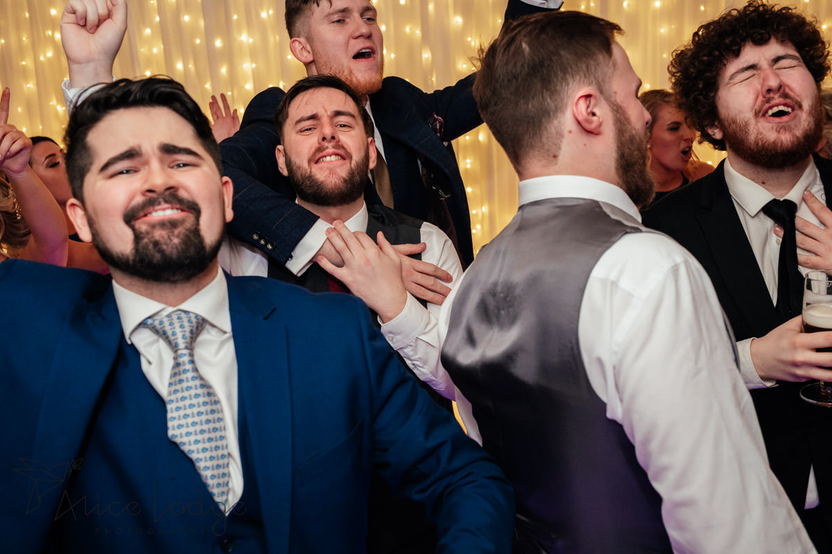 evening disco at wedding