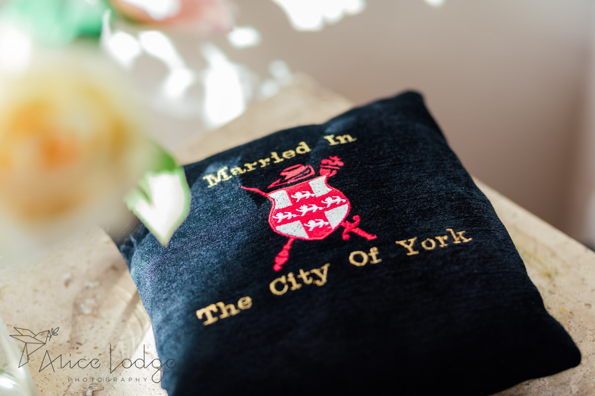 married in the city of York cushion