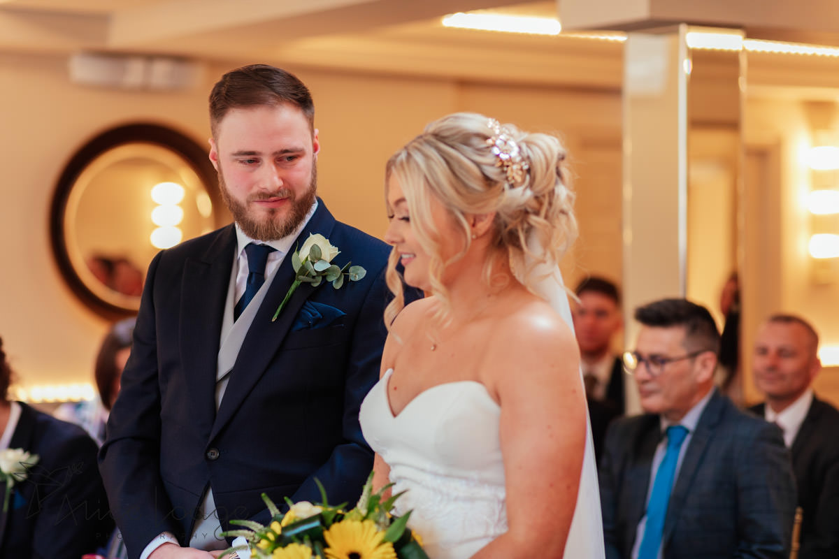 wedding ceremony at Whitley Hall hotel
