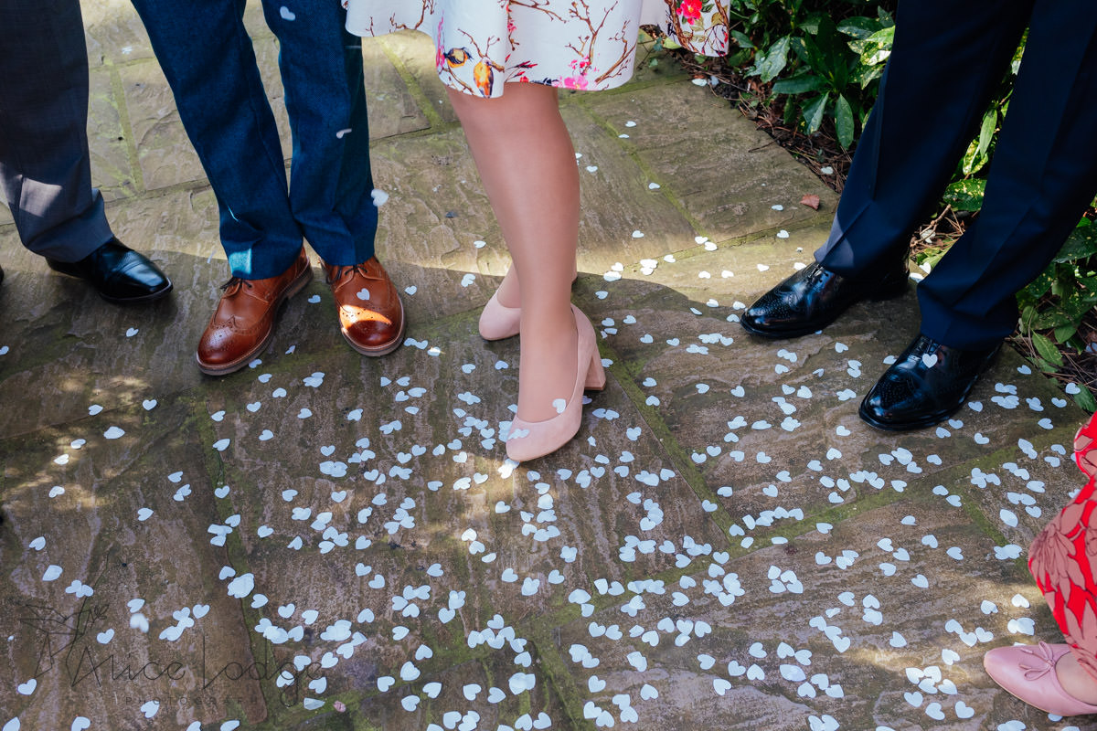 wedding confetti at york registry office