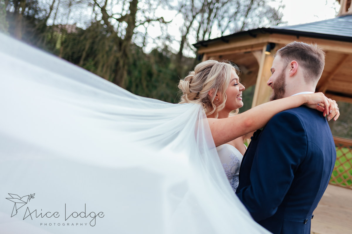 couple wedding portraits in spring