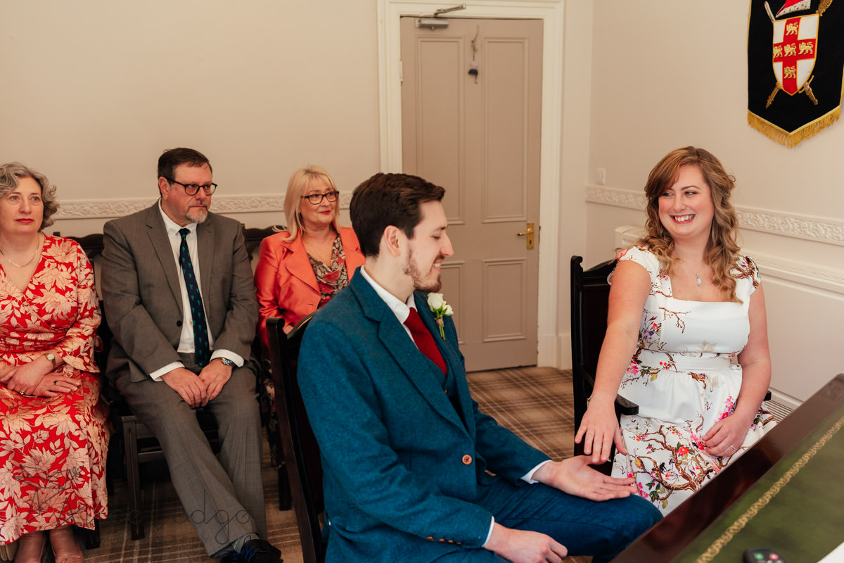 wedding ceremony at york registry office