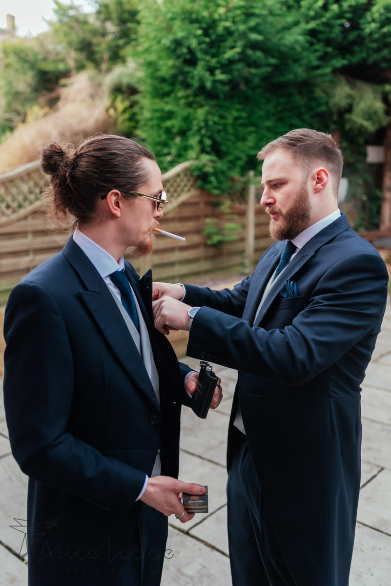best man with groom