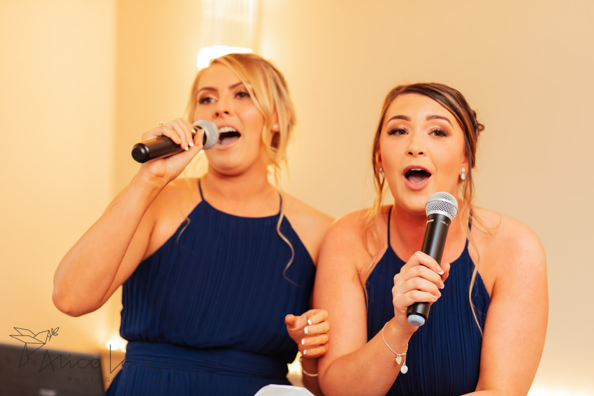 bridesmaids speech at Whitley Hall Hotel