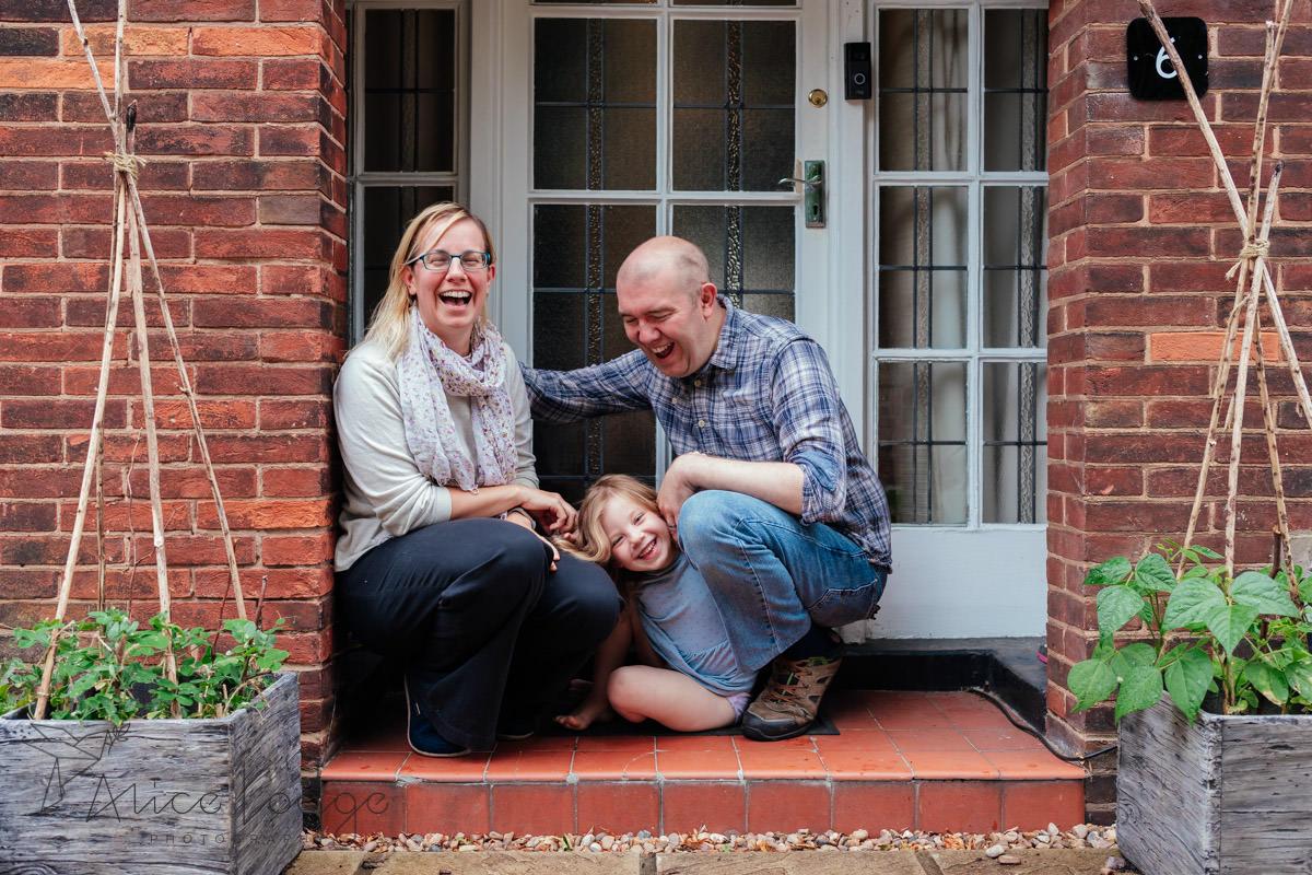 York family doorstep portrait