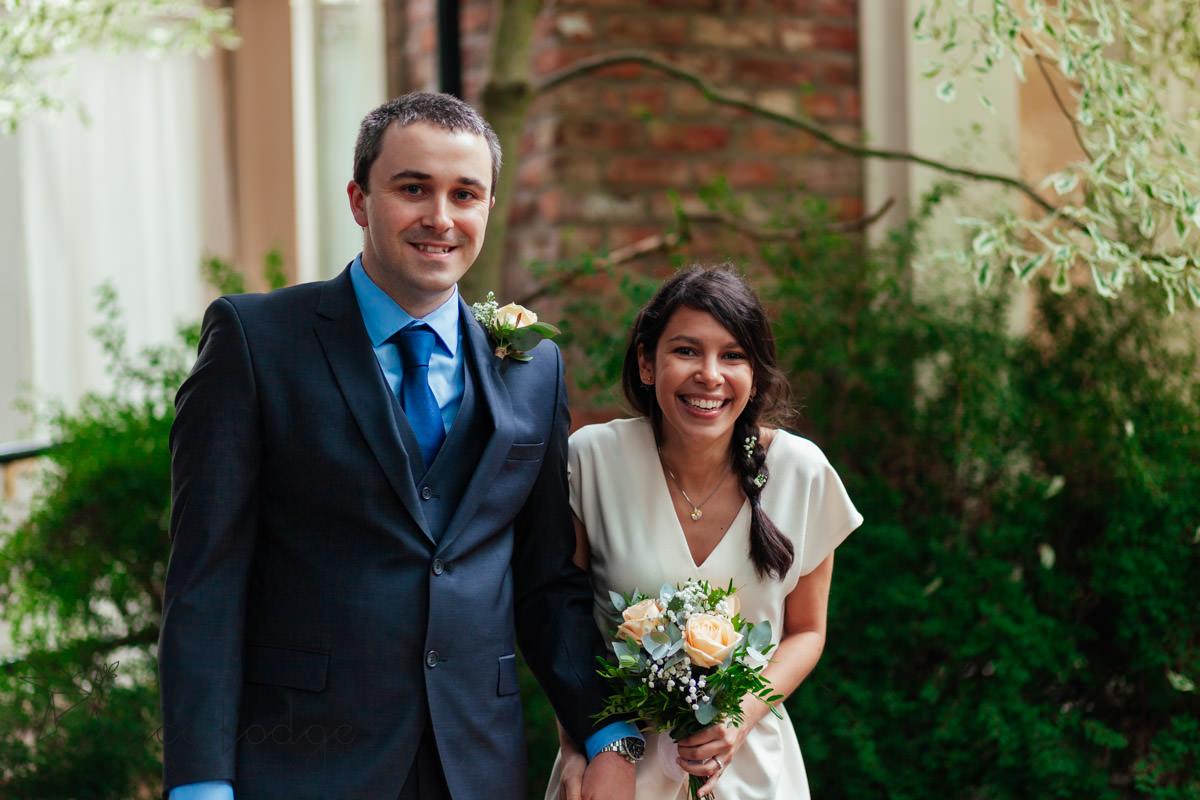 wedding couples before ceremony